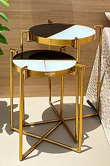 Gold Eclipse Deco Table (Set of 2) by Mason Homes