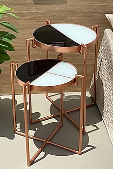 Rose Gold Eclipse Deco Table (Set of 2) by Mason Homes