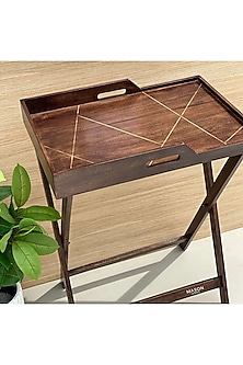 Brown Nevada Butler Tray Table by Mason Homes