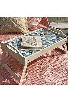 Teal Lotus Printed Bed Tray by Mason Homes