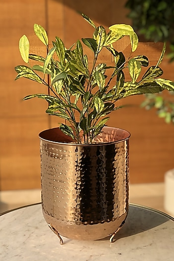 Rose Gold Functional Planter by Mason Home
