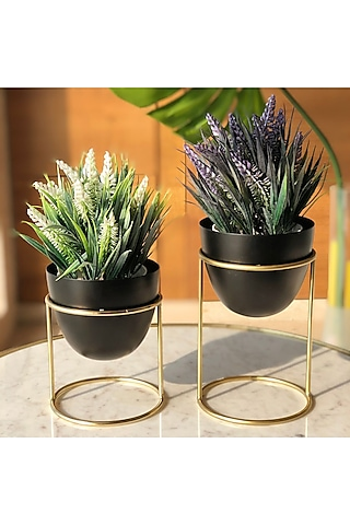 Black Planters (Set of 2) by Mason Home