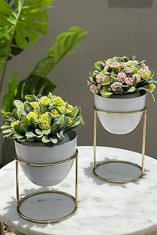 White Botanical Planters (Set of 2) by Mason Home