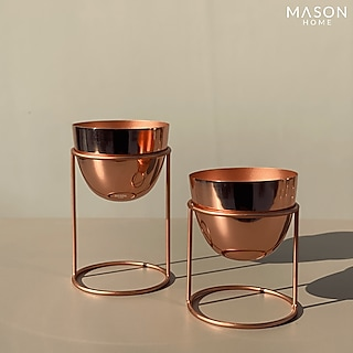 Rose Gold Planters (Set of 2) by Mason Home