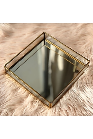 Gold Mirror & Brass Tray by Mason Home