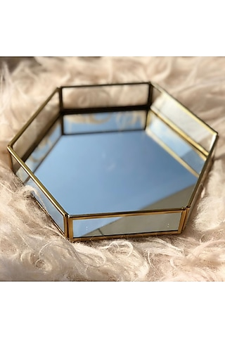 Gold Hexagon Tray by Mason Home