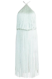 Mint Green Tassel Dress by Deme by Gabriella