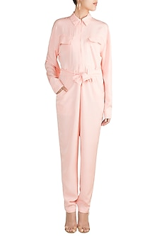 Baby Pink Oversized Jumpsuit by Deme by Gabriella