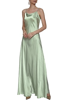 Mint Green Slip Gown by Deme by Gabriella