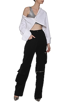 Black Zip Pants by Deme by Gabriella