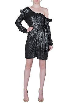 Black sequins mini dress by DEME BY GABRIELLA