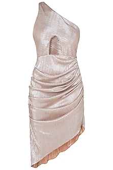 Silver one shoulder mini dress by DEME BY GABRIELLA