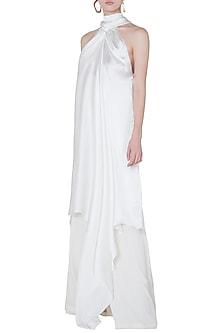 White high neck dress by DEME BY GABRIELLA