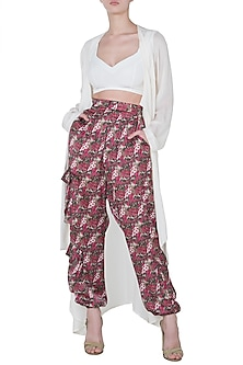 Multi Colored Printed Jogger Pants by Deme by Gabriella