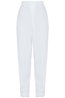 White easy fit pants by DEME BY GABRIELLA