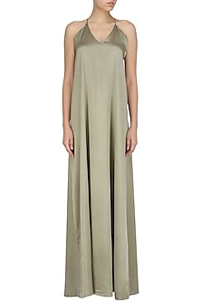 Olive Green Maxi Dress by Deme by Gabriella