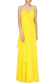 Yellow Corset Dress by Deme by Gabriella