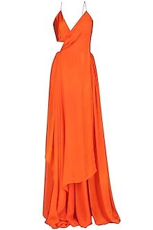 Orange Drape Maxi by Deme by Gabriella