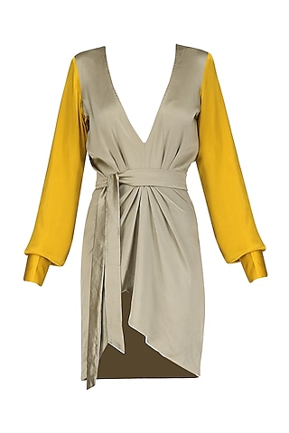 Mustard and Olive Short Dress by Deme by Gabriella