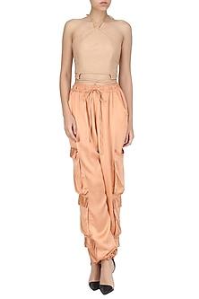 Peach Cargo Pants by Deme by Gabriella