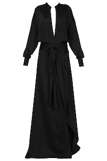 Black Long Shirt Dress by Deme by Gabriella