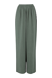 Green Wide Legged Trouser Pants by Deme by Gabriella