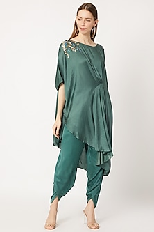 Bottle Green Tulip Pants by Dilnaz Karbhary-PRODUCTS ON DISCOUNT