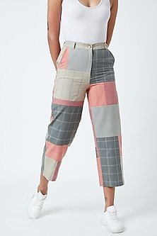 Multi Colored Checkered Highwaisted Pants by Doodlage