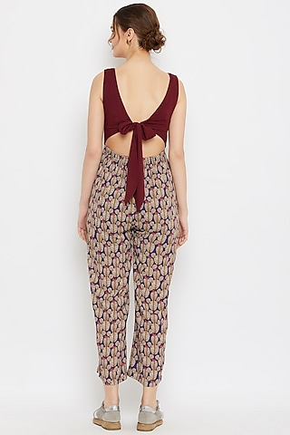 Multi Colored Printed Jumpsuit by Doodlage