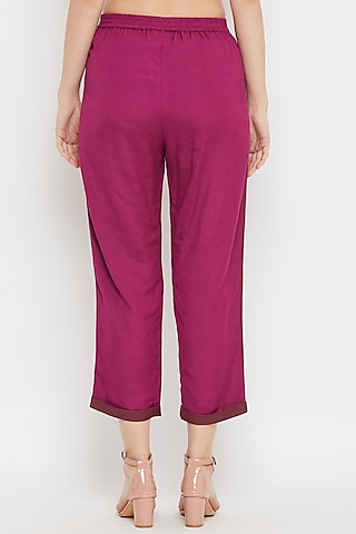Pink Upcycled Cotton Pants by Doodlage