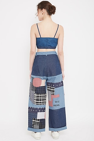 Multi Colored Embroidered Balloon Pants by Doodlage