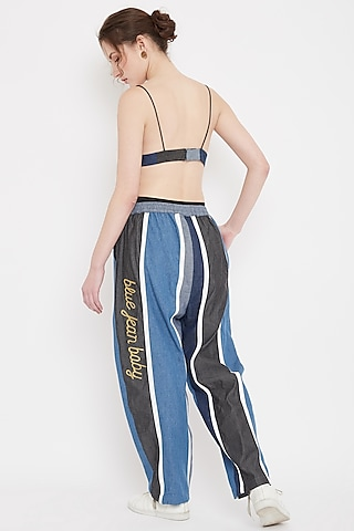 Multi Colored Patchwork Joggers by Doodlage