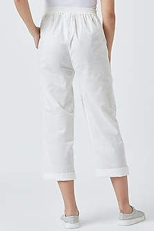 White Pants With Side Pockets by Doodlage
