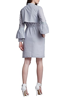 Grey Button Down Dress by Doodlage
