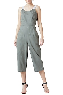 Olive Green Strappy Jumpsuit by Doodlage