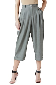 Olive Green Pleated Pants by Doodlage
