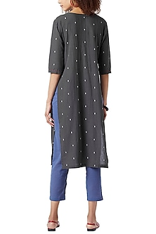 Charcoal Grey Handcrafted Tunic by Doodlage
