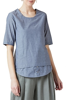 Blue Layered A-Line Top by Doodlage