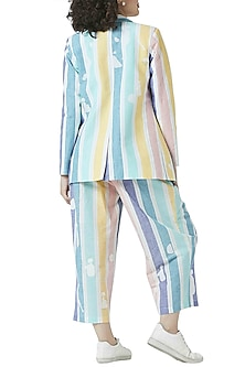 Multi Colored Stripe Printed Pants by Doodlage