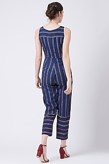 Blue Striped Jumpsuit With Pockets by Doodlage