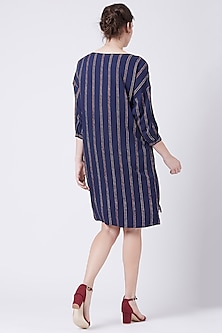 Blue Printed Shirt Dress by Doodlage