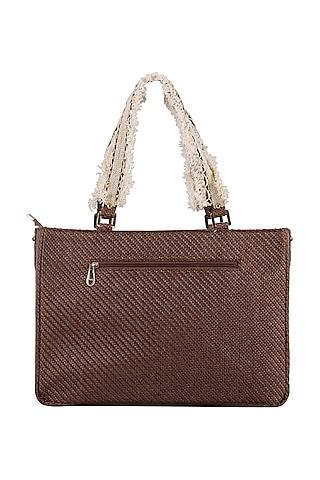 Brown Oversized Handbag by D'Oro