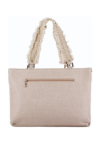 Lavender Oversized Handbag by D'Oro