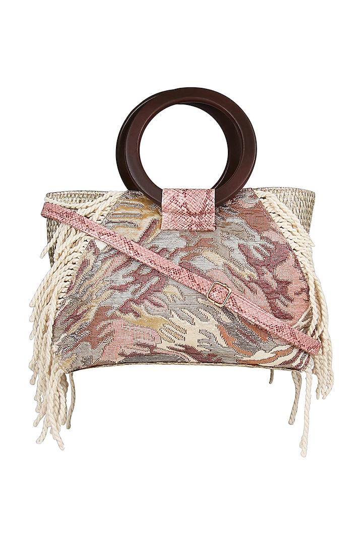 Pink Animal Printed Shoulder Bag by D'Oro