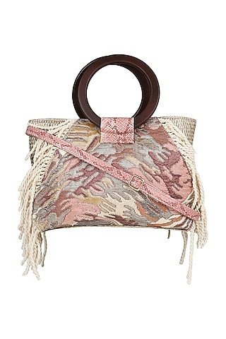 Pink Animal Printed Shoulder Bag by D'Oro