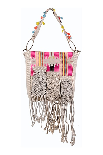 Multi Colored Spacious Shoulder Bag by D'Oro