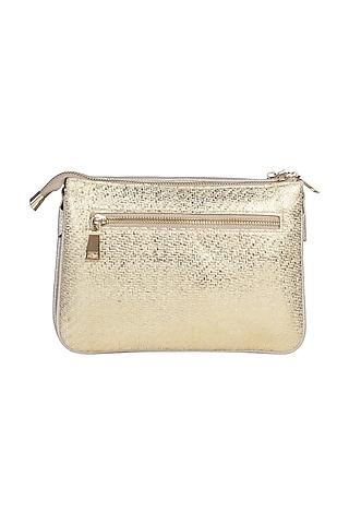Silver Sequins Embellished Sling Bag by D'Oro