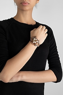 Gold Finish Handcrafted Bracelet by D'Oro