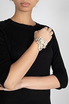 Gold Finish Crystal Bracelet by D'Oro