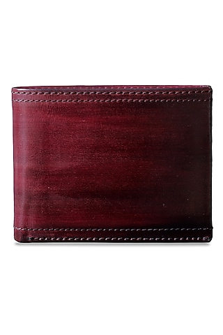 Mahogany Hand Painted Leather Wallet by Doux Amour